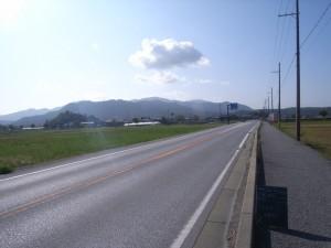 着工前 国道307号 地域自立活性化交付金工事
