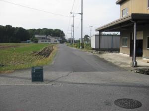 着工前 町道目加田八町線道路改良工事